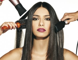 hair extensions with brush
